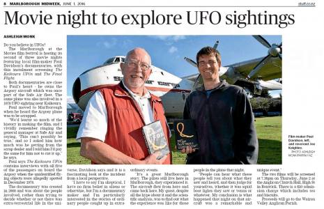 UFO FILM MARLBOROUGH